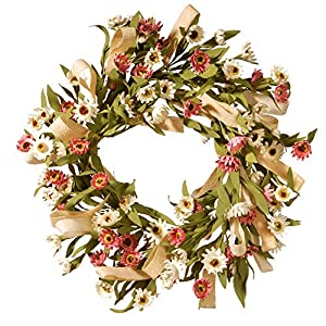 "CC Christmas Decor 22"" Small Sunflower Wreath 33"