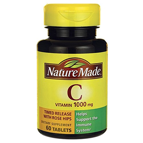 Nature Made Vitamin C 1000mg Timed Release with Rose Hips , 60 Tablets