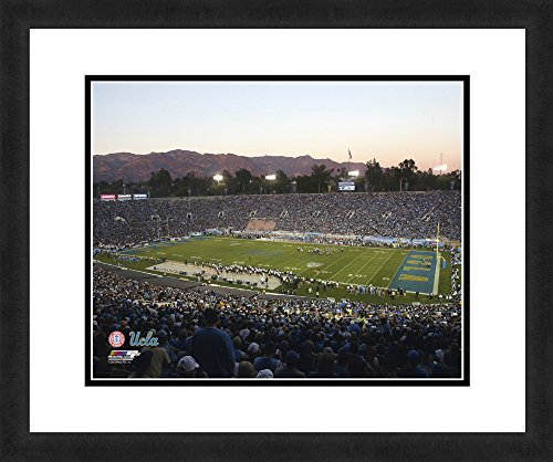 """Framed Ucla Bruins - NCAA UCLA Bruins Stadium, Beautifully Framed and Double Matted, 18"""" x 22"""" Sports Photograph"""