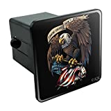#4: Graphics and More These Colors Don't Run Patriotic Eagle USA American Flag Tow Trailer Hitch Cover Plug Insert 2