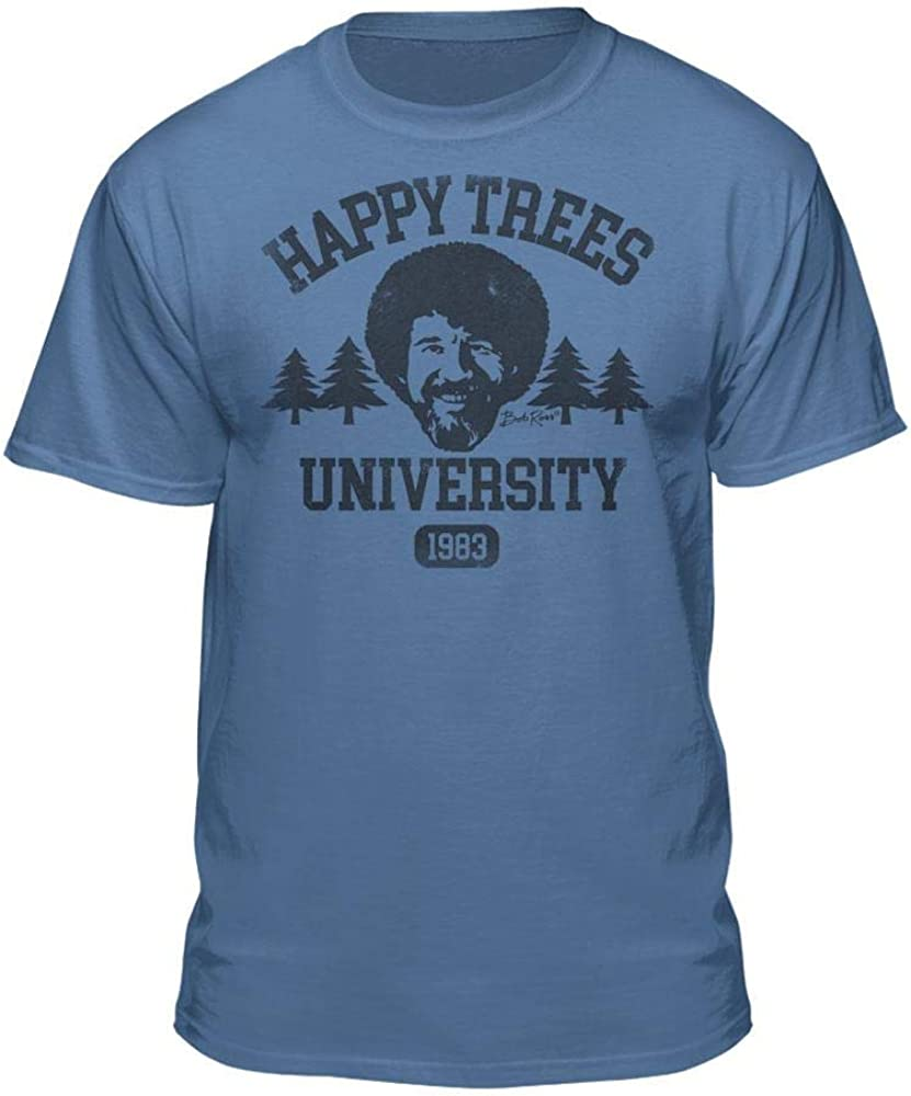 Bob Ross Happy Trees University Official Licensed Graphic T-Shirt