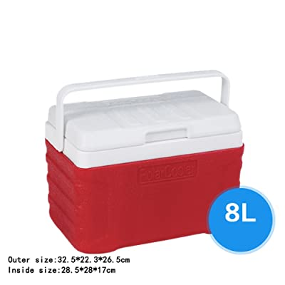 Été En Plein Air Isolation Box Refroidisseur Voiture Domestique Borne Portable Glace Sac À L'extérieur Pêche Pique-Nique Retenir Fraîcheur Seau à Glace Avec Thermomètre (