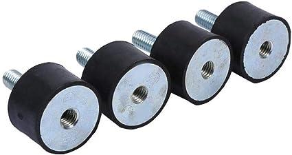 4pcs M10 40 x 30 Isolateur de Caoutchouc Anti-vibration Supports Anti-vibration /à Double Filetage avec Vis