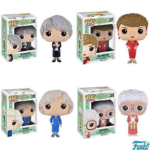 Pop! TV: Golden Girls Dorothy, Blache, Rose and Sophia Vinyl Figures! Set of 4