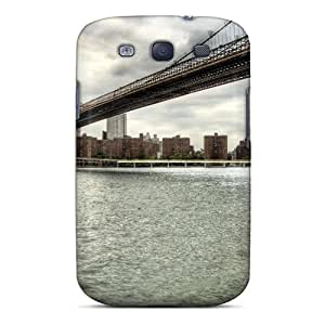 Williamwtow Case Cover Protector Specially Made For Galaxy S3 Brooklyn Bridge New York City Urban