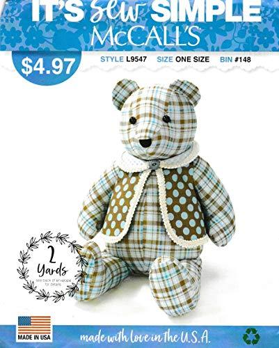 - McCall's Sewing Pattern L9547 ML9547 Stuffed 18