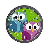 CafePress – Cute Owl Design – Unique Decorative 10″ Wall Clock Review