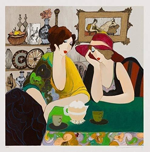 FidgetGear Art Quality Canvas Print, Itzchak Tarkay Oil Painting c102 Sarra and Hana 15x15