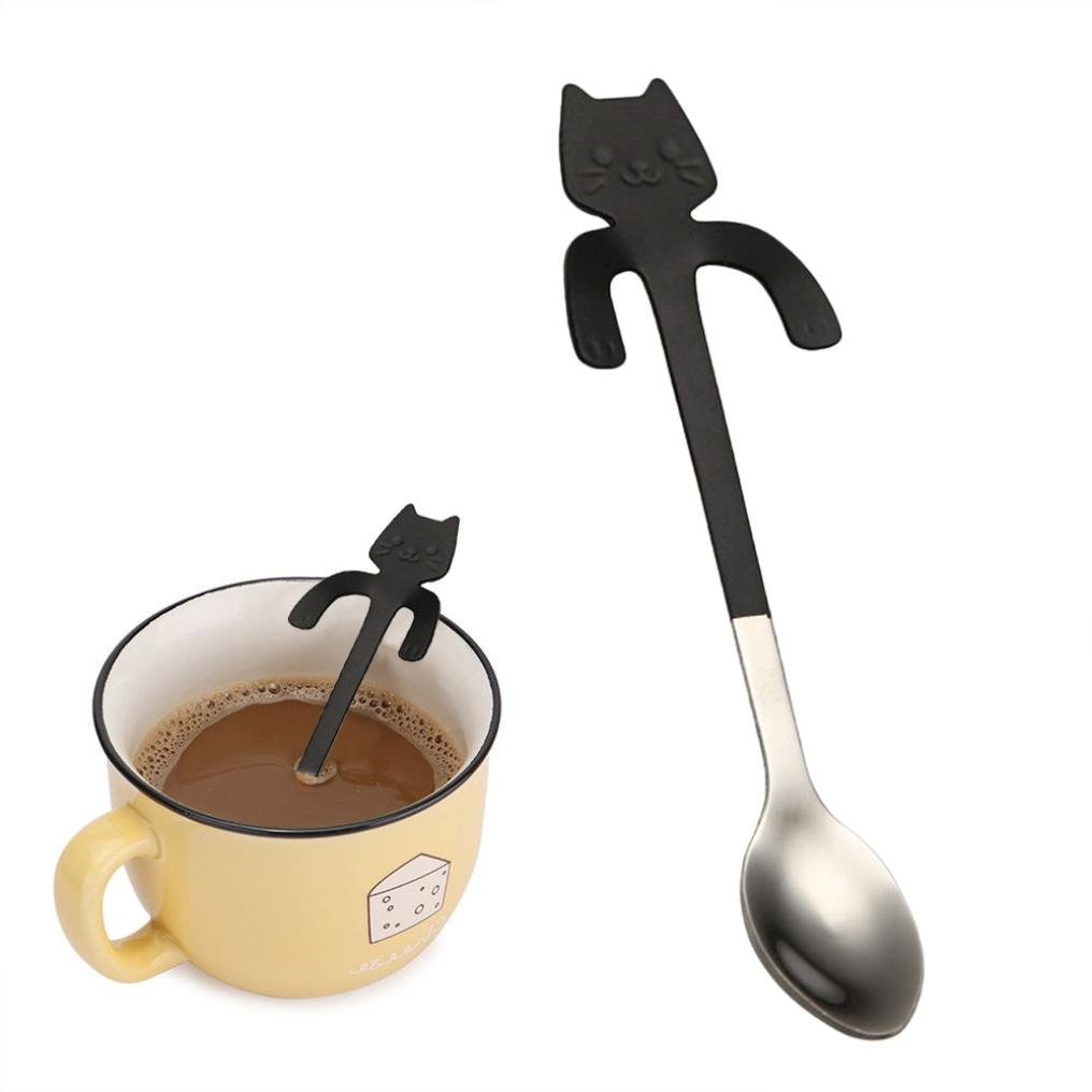 NewKelly Pro Tea Stainless Steel Drinking Yerba Mate Straw Gourd Bombilla Filter Spoon (Black-02)