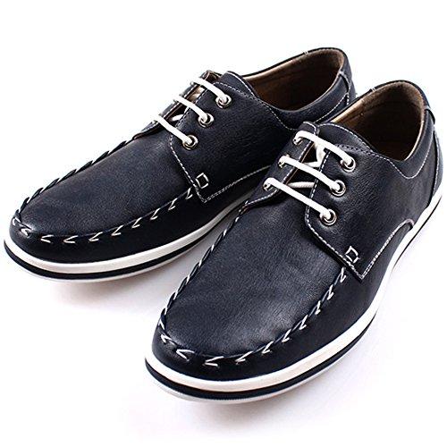 Nuovo Politeco Lace Up Moda Casual Business Sneakers Uomo Tendenza Scarpe Eleganti Blu