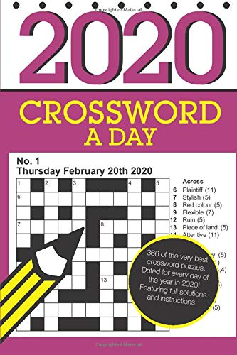 Crossword A Day 2020 366 Dated Crossword Puzzles Media Clarity 9781082394966 Amazon Com Books