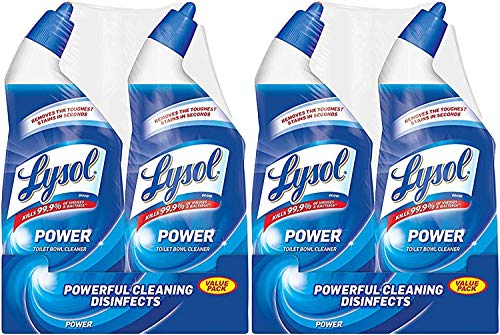 - Lysol Power Toilet Bowl Cleaner, 48oz (2X24oz), 10X Cleaning Power (Pack of 2)