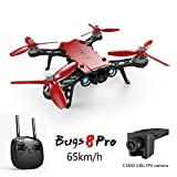 Koeoep Bugs 8 Pro RC Quadcopter 5.8G FPV Drone High Speed Racing Helicopter 6-Axis Gyro Aircraft