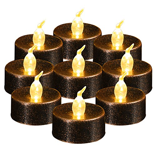Beichi Flameless LED Tealights Candles, Battery Operated Fake Candles, Small Electric Tea Lights, Warm White Flickering Flame, Unscented Tea Candles, Set of 24