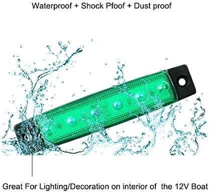 Electrely Led Lauflicht Blinker Seitenmarkierungsleuchten Vorne Hintere Seite Lampe Position 12v Für Anhänger Lkw Wohnwage Wohnmobile Van Lkw Bus Boot Traktor Grün Auto