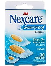 Nexcare Waterproof Bandage, Assorted, M, 30ct