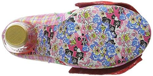 Irregular Choice Bowtina - Tacones Mujer Rosa - Pink (Pink Floral)