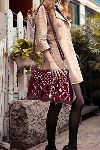 A Bag Hombro Messenger Lingge Bolso Temperamento Lady Elegante Bolso PU De Simple JPFCAK Bolsos wFPOq4TF