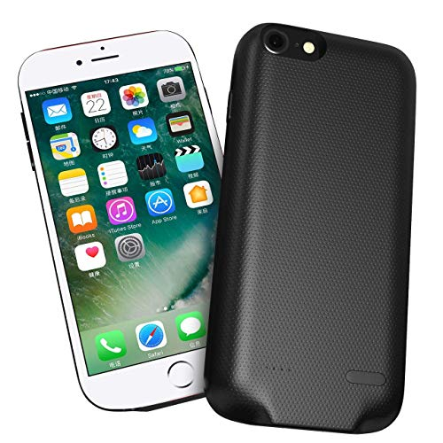 Battery Case, Protective Charging Case 6000mah Ultimately Portable Power Bank Charger Case Rechargeable Charger Case Compatible with iPhone 6s Plus/ 7 Plus /8 Plus