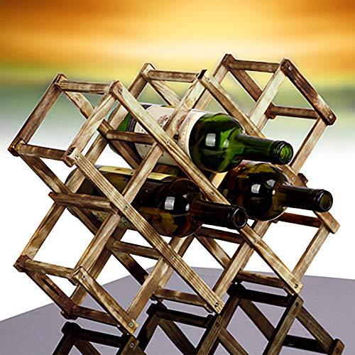 Price comparison product image Fheaven (TM) wine rack - 3 / 6 / 10 Bottle Red Wine Holder Wooden Rack Mount Holder Kitchen Decor Foldable Wine Rack (10PCS)