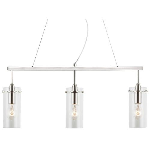 3 bulb light fixture glass pendant cluster effimero light kitchen island hanging fixture brushed nickel linea di liara ll bulb pendant light amazoncom
