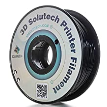 3D Solutech Printer Filament, Real Black PLA, 1.75MM Filament, Dimensional Accuracy +/- 0.03 mm, 2.2 LBS (1.0KG) - 100% USA Plastic Filament