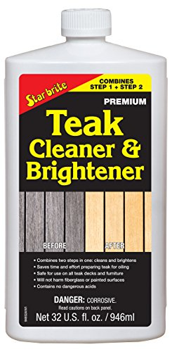 Star brite One Step Teak Cleaner & Brightener 32 ounce (Cleaner Brite Star Teak)