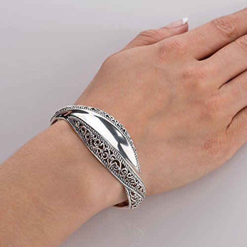 Carolyn Pollack Signature Genuine .925 Sterling Silver Wave Cuff Bracelet by Carolyn Pollack (Image #2)