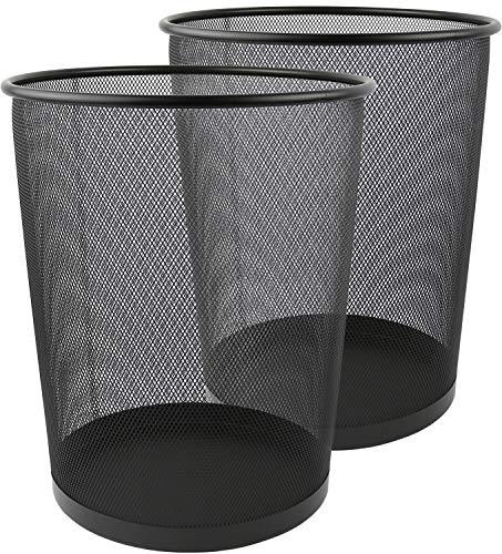 Mesh Round Wastebasket - Greenco GRC2708 Round Mesh Wastebasket Trash Cans, 6 Gallon
