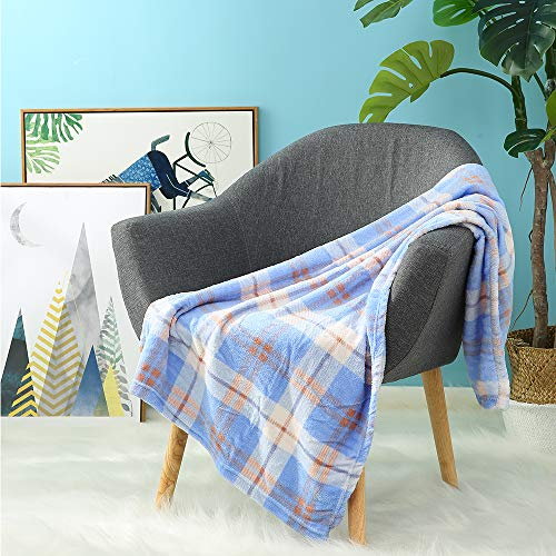 (i-baby Soft Baby Blanket Large Flannel Toddler Blanket Cozy Nursery Crib Blanket Infant Wrap Warm Kids Blanket (Blue Dream, 28 x 47 Inch))
