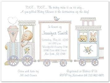 Amazon baby train baby shower invitations set of 20 baby baby train baby shower invitations set of 20 filmwisefo