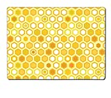 Luxlady Natural Rubber Placemat IMAGE ID: 20009484 Abstract colorful yellow honeycomb seamless pattern vector