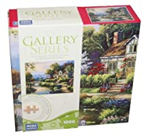 GALLERY SERIES AUTHENTIC WOOD PUZZLE Swan Cottage II 1000 Piece Puzzle by Mega Puzzles
