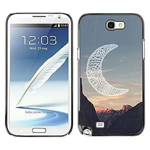 Luna Native American Indian Canyon - Metal de aluminio y de plástico duro Caja del teléfono - Negro - Samsung Note 2 N7100