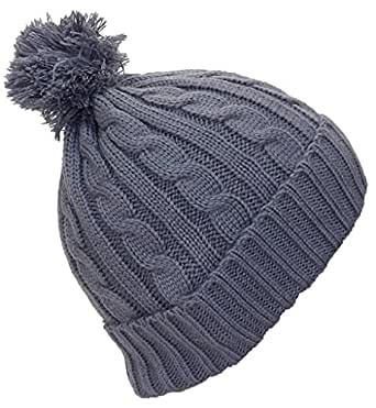 best winter hats women 39 s tight cable knit cuffed cap w pom. Black Bedroom Furniture Sets. Home Design Ideas