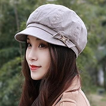 Spring and summer days are female Hat Beret in old England peaked cap hard  along the 193b2f451e8