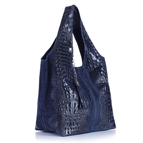 DanDiBo 300033 - Bolso de asas para mujer Azul azul oscuro