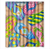 """Funny Flip Flops,Slippers art,Sandals 100% Polyester Shower Curtain (60"""" wide x 72"""" long)"""