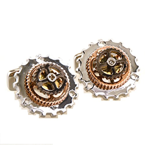 MRCUFF Bicycle Gears Really Moves Bike Cycling Cyclists Derailleur Pair Cufflinks Presentation Gift Box & Polishing Cloth