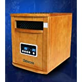 New Diva Tranquility 1500 Watts Vintage Style Infrared Portable Space Heater with Remote Control