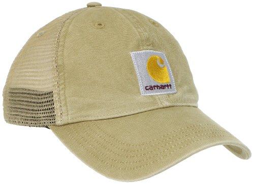 Carhartt Men's Buffalo Cap,Dark Khaki,OFA, One - Baseball Tan Hat