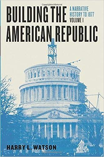Building The American Republic Volume 1 A Narrative