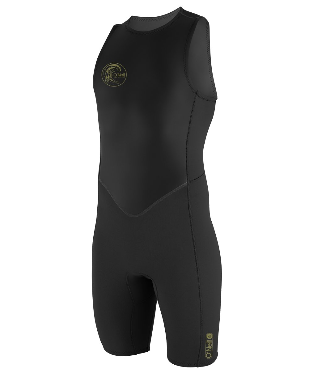 O'Neill Men's O'Riginal 2mm Back Zip Sleeveless Spring Wetsuit, Black, Large