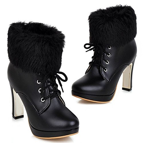 Lace Heels Black Women Up Boots KemeKiss qt4Tx
