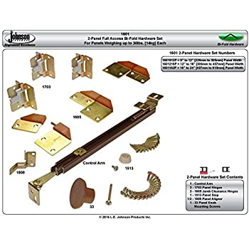 Johnson prod 1601218p 100 full access folding door for 1700 series folding door instructions