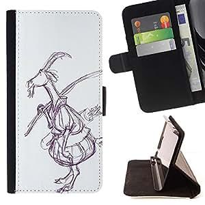 Momo Phone Case / Flip Funda de Cuero Case Cover - Dibujo Arte del cuento de hadas del bosque - Motorola Moto E ( 1st Generation )