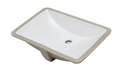 Amazing Eago Bc227 White Ceramic 22X15 Undermount Rectangular Beutiful Home Inspiration Xortanetmahrainfo