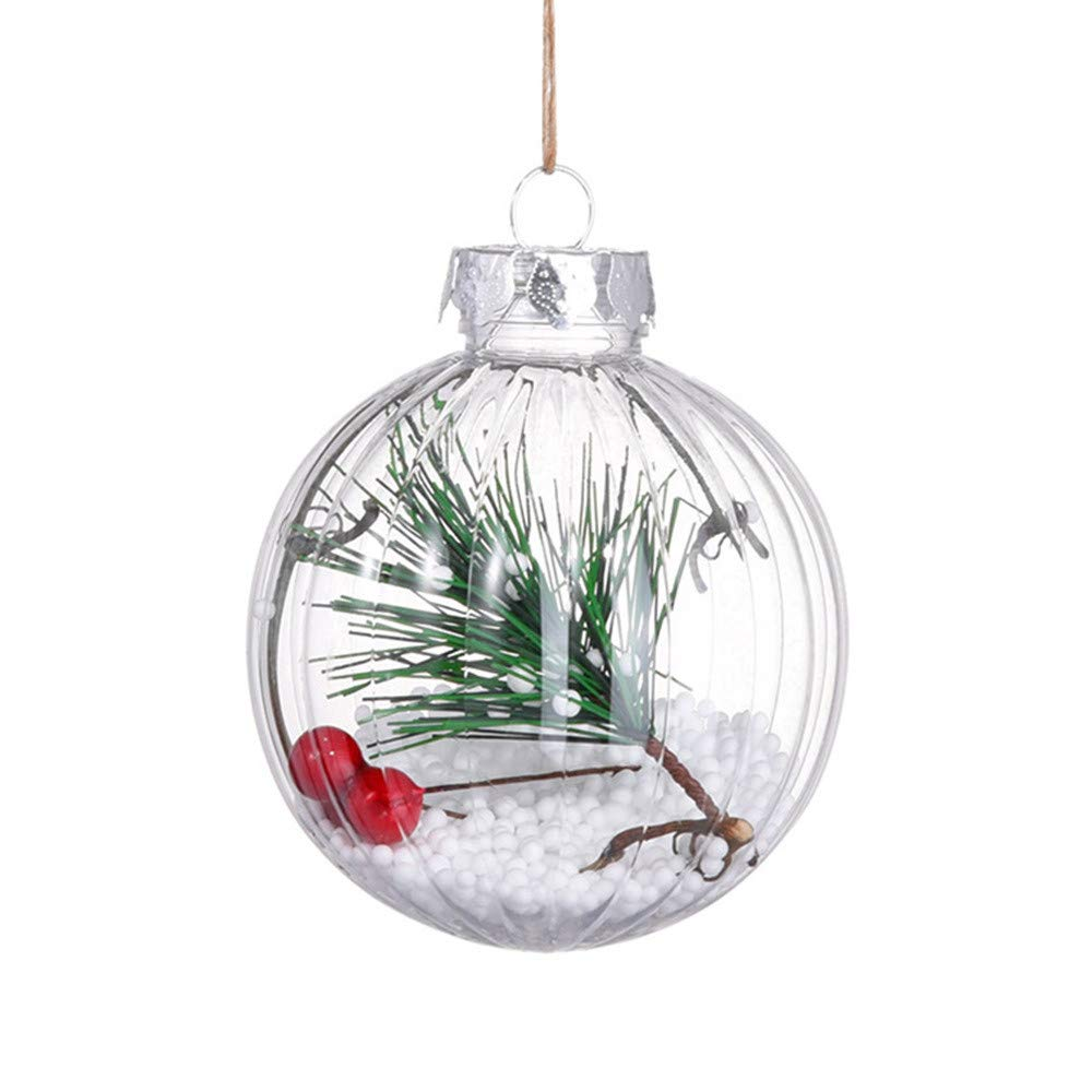 ZTY66 Merry Christmas Tree Ball Ornaments Christmas Ball Pendant Xmas Tree Decorations (A)