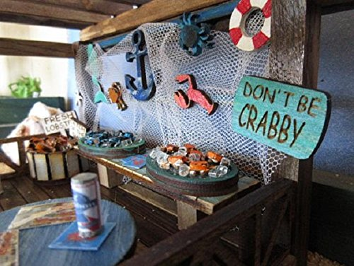 Fairy Garden Miniature Crab Shack OOAK Handmade Beach Hut