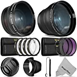 55mm Advanced Lens Bundle Accessory Kit for Nikon DSLR with Vivitar Wide Angle and Telephoto Lenses